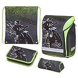 Herlitz Schoolbag Set, Motorcross