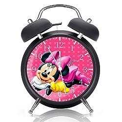 Minnie Mouse Alarm Desk Clock 4 Inches Home or Office Decor E123