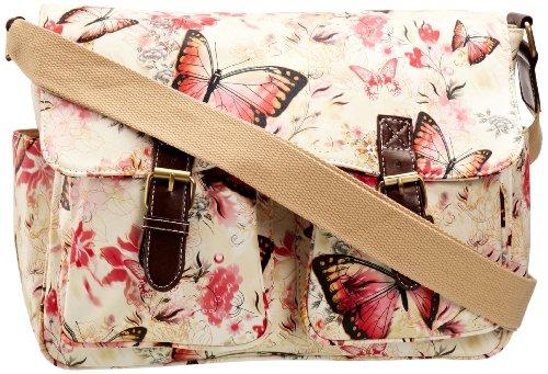 SwankySwans Girl's Maple Butterfly Print Satchel