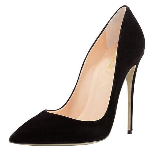 23270f93 Lutalica Zapatos de tacón Alto con tacón de Aguja de Boda para Mujer, con Punta  en Punta, de tacón Alto: Amazon.es: Zapatos y complementos