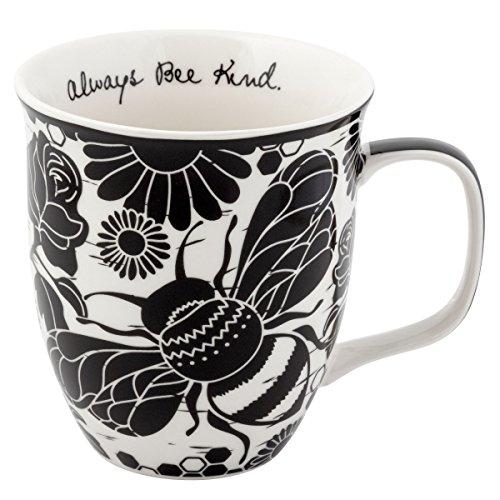 Karma Gifts Boho Black And White Mug, Bee