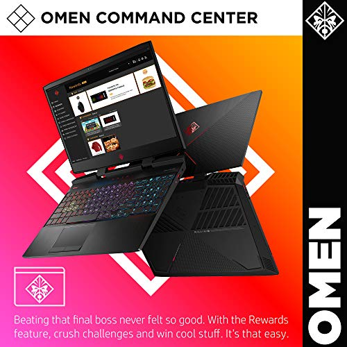 OMEN by HP 2019 15-inch Gaming Laptop, 9th Gen Intel i7-9750H, NVIDIA GeForce RTX 2070 with Max-Q (8 GB), 16 GB RAM, 512 GB Solid-State Drive, VR Ready, Windows 10 Home (15-dc1060nr, Shadow Black)