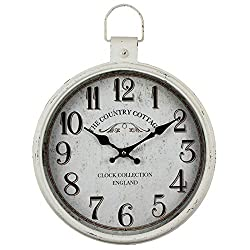 ZBBSHOP Retro Pocket Watch Wall Clock Home Creative Clock Wrought Iron Hanging Wall Clock Retro Decoration Living Room Clock 30cm