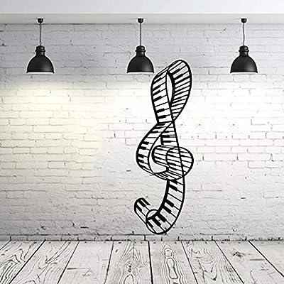 ljjljj Tatuajes de pared Música Nota Clave de sol Teclas de piano ...