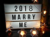 Alicemall Light Box with 90 Letters,A6 Size Free Combination Cinematic Light Box DIY Mini LED Letter Lamp for Home Decor, Photoshoots, Birthday Party (A6 Letter)