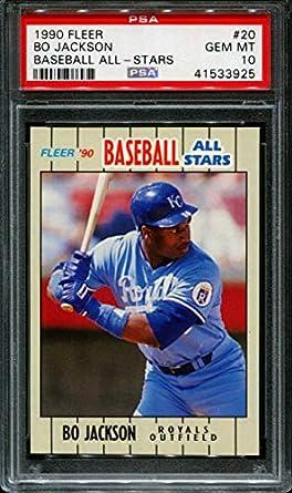low priced 60741 b92e8 Amazon.com: 1990 FLEER BASEBALL ALL-STARS #20 BO JACKSON ...