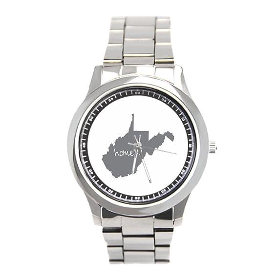 blue5 acero inoxidable relojes casa 3 West Virginia Reloj de pulsera correas: Amazon.es: Relojes