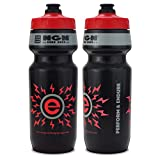 NGN Sport - High Performance Bicycle/Bike Water Bottle for Triathlon, MTB, and Road Cycling - 24 oz (Black/Red 2-Pack)