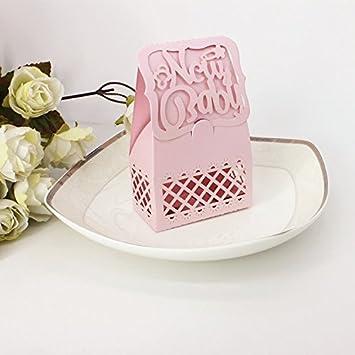 Lnkey Shop 12 Cajitas / NEW BABY-Caja para Bombones Caramelos Regalo Decoracion para Boda ducha del bebé: Amazon.es: Hogar