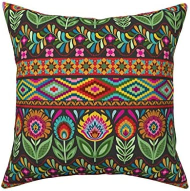 Multicolor Buckle Down Star of David Throw Pillow