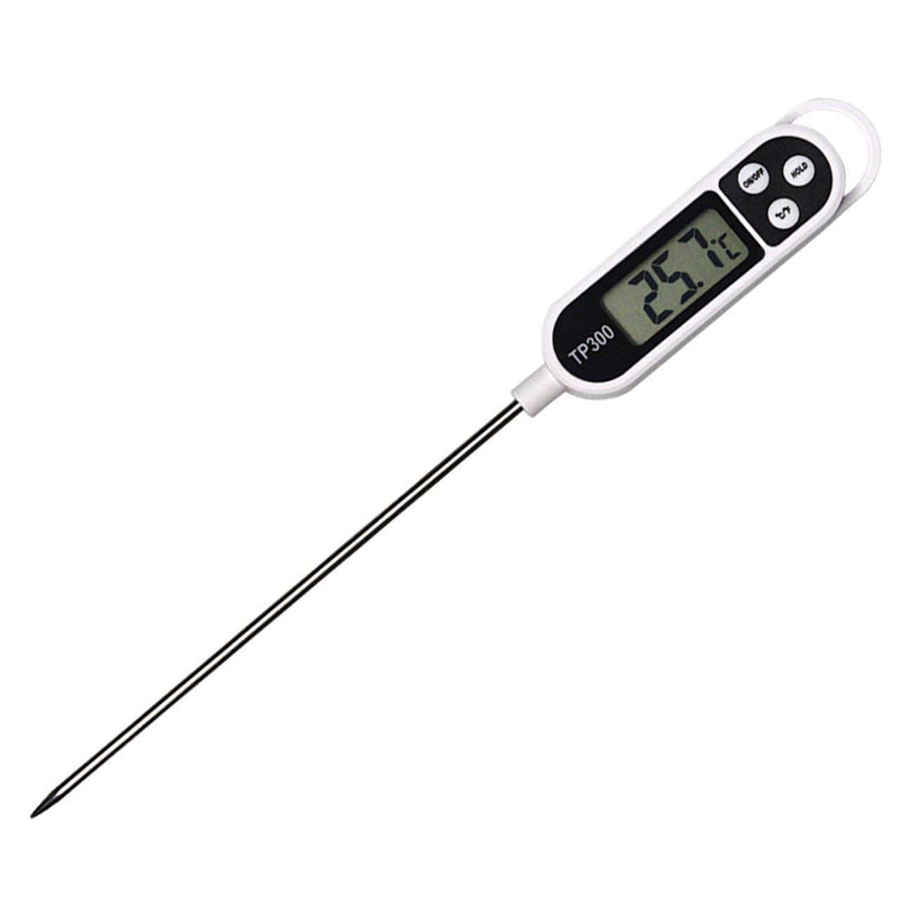 Liobaba High Accuracy Stainless Steel Household Kitchen Food Meat Probe Thermometer Home Cooking Temperature Measure Tool