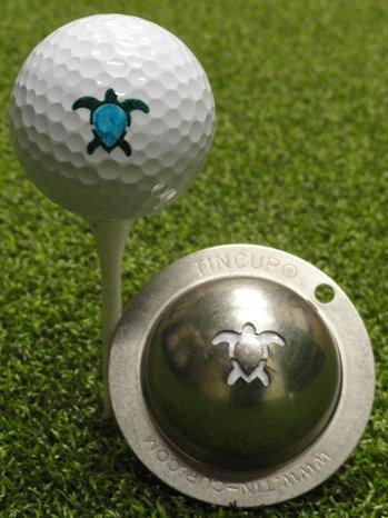 Tin Cup Golf Ball Custom Marker Alignment Tool Models (Honu Turtle) -