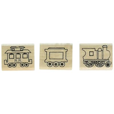 Stamps by Impression ST 1402 3 Piece Train Set Rubber Stamps: Arts, Crafts & Sewing