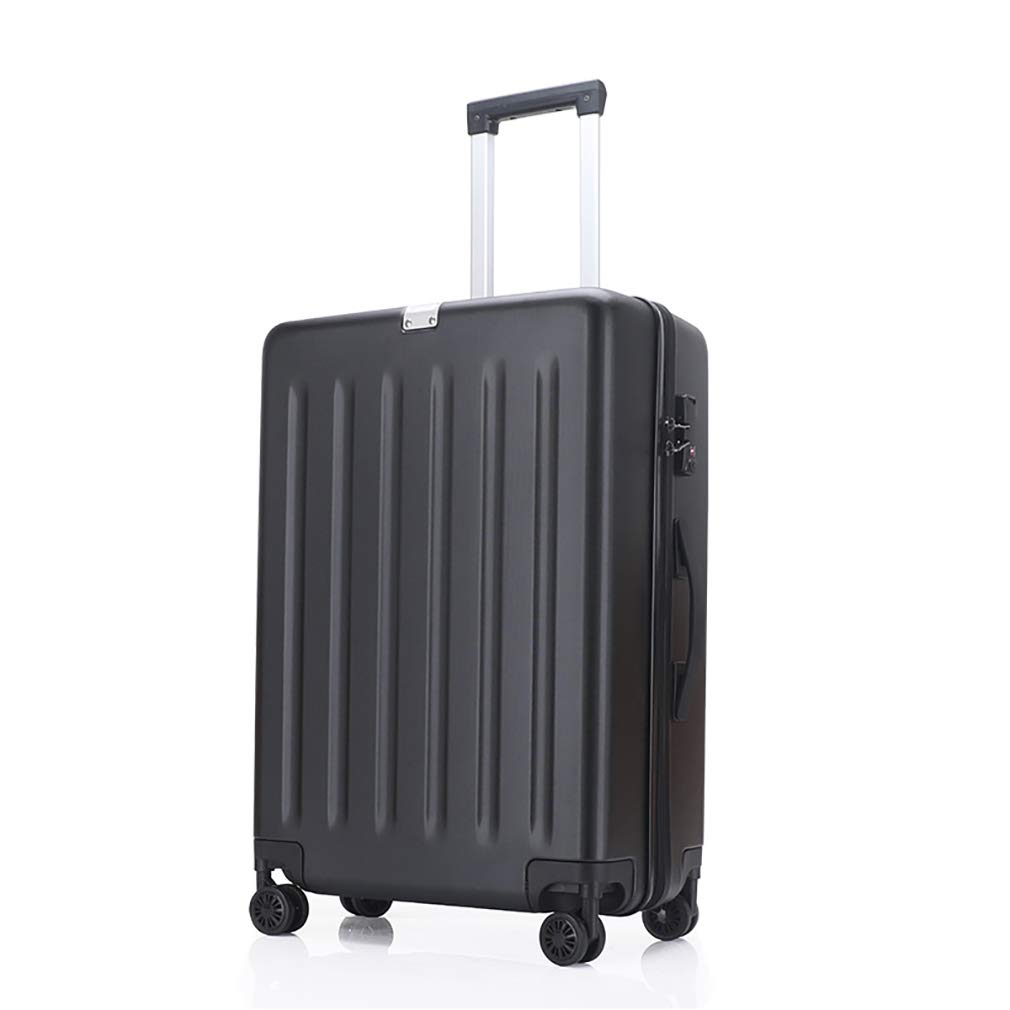 新しい荷物、ユニバーサルホイールパスワードスーツケース、超軽量で丈夫なハードシェルトロリーケース (色 : ブラック, サイズ : 20) B07VHQJR6S ブラック 20