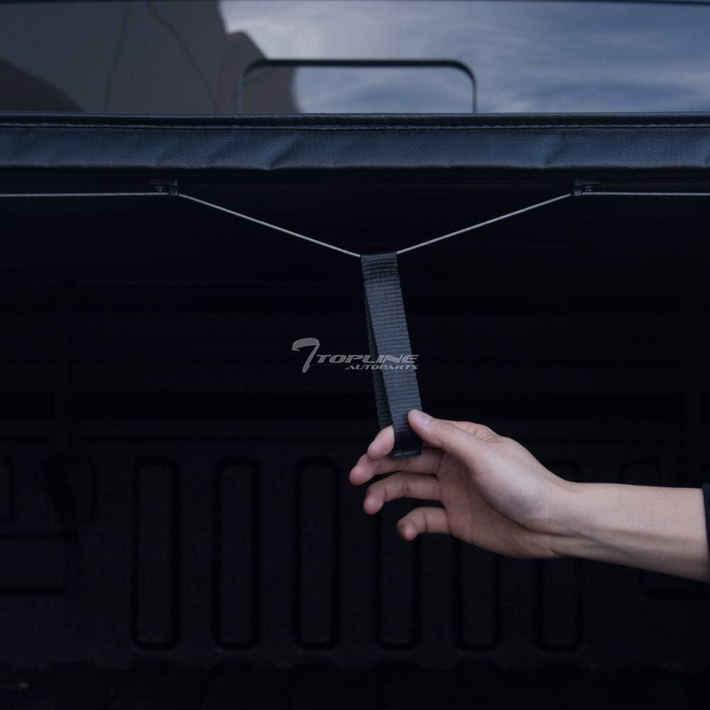 Sonoma Topline Autopart Lock Roll Up Soft Vinyl Truck Bed Tonneau Cover For 94-03 Chevy S10 GMC S15 Bed 96-00 Isuzu Hombre 6 Feet 72