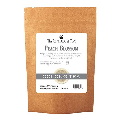 The Republic Of Tea Peach Blossom Oolong Black Tea, 250 Tea Bags, Gourmet Spring Tea (Ice Peak Oolong Tea)