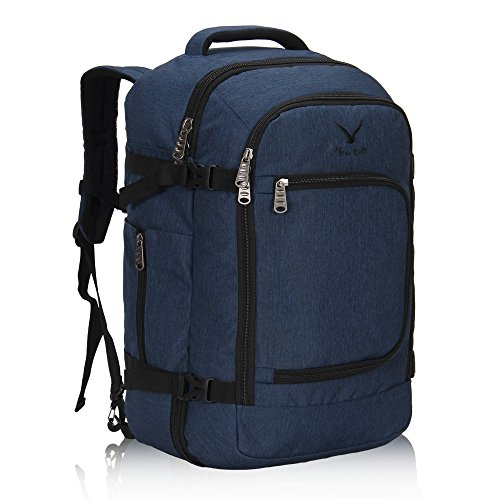 Hynes Eagle Travel Backpack 40L Flight Approved Carry on Backpack Blue 2017