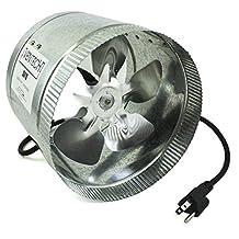 """VenTech VT DF-8 DF8 Duct Fan, 400 CFM, 8"""""""