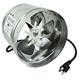 paint room exhaust fan - VenTech VT DF-8 DF8 Duct Fan, 420 CFM, 8