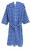 Benefit Wear Childrens Hooded Terry Bath Robe with Zipper (16, Blue)