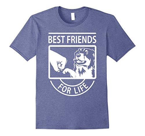 Men's Australian Shepherd - Best Friend For Life T-shirt Small Heather Blue
