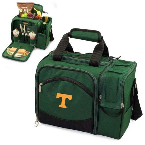 NCAA Tennessee Volunteers Malibu Picnic Tote with Deluxe Picnic Service for Two - Bag Picnic Beach Deluxe Time