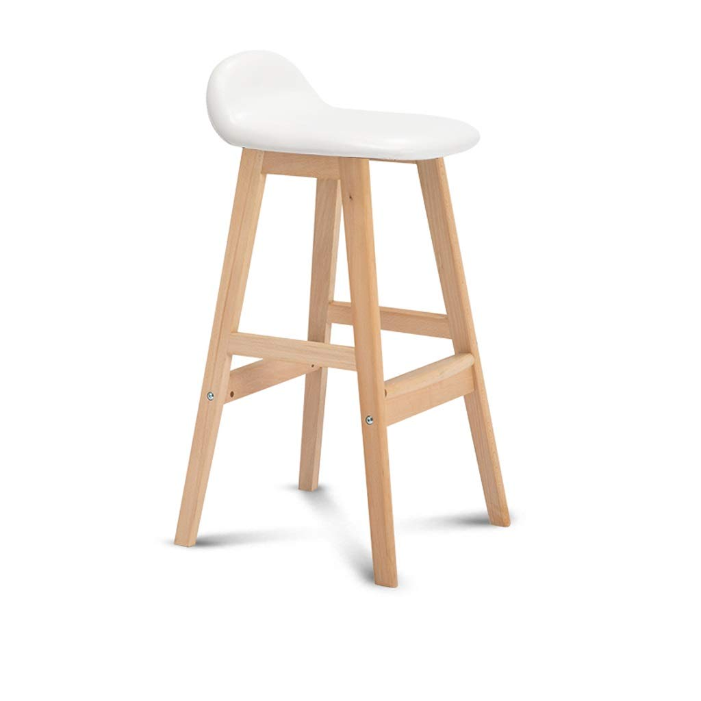 A TXXM Barstools Bar Chair Grey, Black footrest Wooden Frame - bar Stool Multicolor (color   A)
