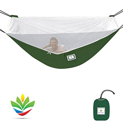 mosquito free hammock bliss  u2013 camping hammock with bug screen mossy  ting canopy   integrated suspension amazon    mosquito free hammock bliss  u2013 camping hammock with bug      rh   amazon