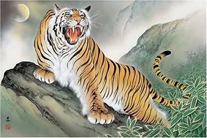 Amazon Apple One 1000 Piece Fierce Tiger Diagram 50 X 75 Cm