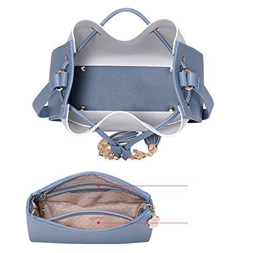 Green Bucket Child New For Bags Shoulder Fashion Stripes Women Crossbody Set Bags Handbags Bags Girls Handbags ZqnfTwv