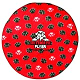 Tuffy's Ultimate Flyer Dog Toy Paw Prints, Red, My Pet Supplies