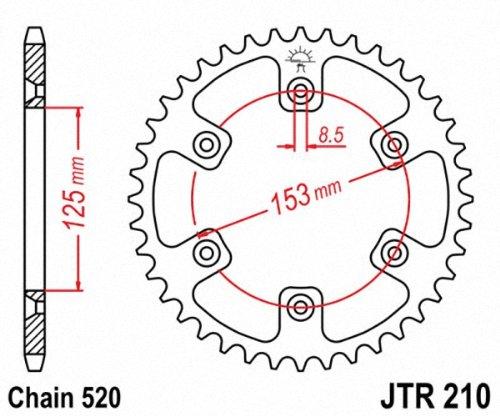 JT Sprockets JTR210.43 43T Steel Rear Sprocket