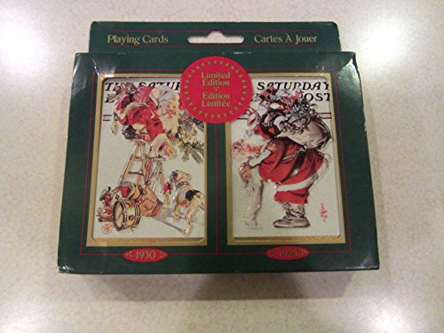 SANTA CLAUS Playing Cards in Tin! Leyendecker Saturday Evening Post