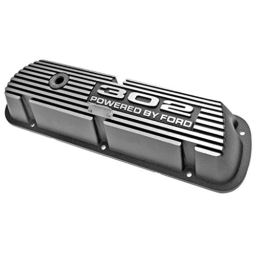 - Mustang Valve Covers Aluminum with 302 Powered By Ford Logo Black 1964 1/2 - 1973