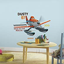 RoomMates RMK2679GM Planes Fire and Rescue Dusty Peel and Stick Giant Wall Decals