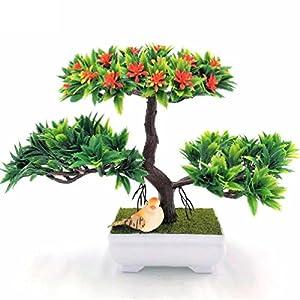 1pc decration diy Artificial flowers&wreaths Bonsai Fake Green Pot Plants 108