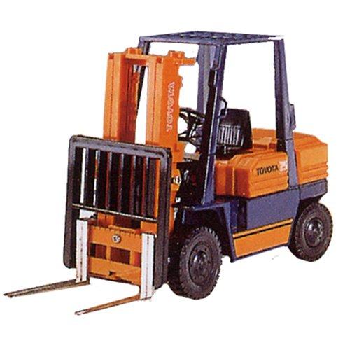 1/23 トヨタ フォークリフト(オレンジ×ブルー) 「ダイヤペット ワークスシリーズ」 DK-5003