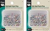 1 Pack Dritz Dritz 350-Piece Ball Point Pins, 1-1/16-Inch (2 Pack)