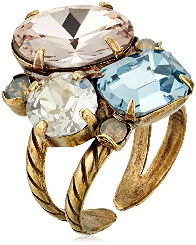 Multi Cut Cluster - Sorrelli Multi-Cut Crystal Cluster Ring, Crystal Mist