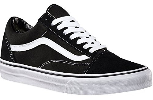 Vans Unisex Old Skool Black/White Skate Shoe 8 Men US / 9.5 Women US