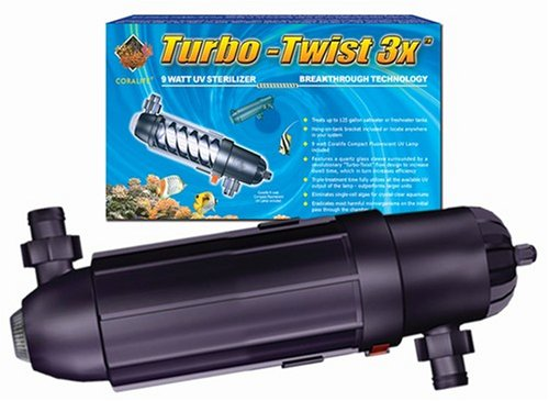 Coralife Pond Turbo Twist - Coralife 77070 3X Turbo Twist UV Sterilizer