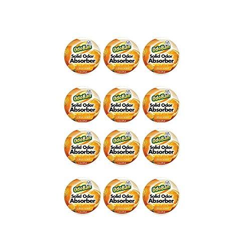 OdoBan Solid Odor Absorber Eliminator, Air and Pet Odor Freshener Purifier, 12 Pack, Citrus Scent