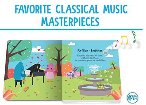 OUR BEST INTERACTIVE CLASSICAL MUSIC SOUND BOOK for BABIES with Melodies Mozart Beethoven. Educational Toys ages 1-3. Baby Books for one year old. Toddler Musical Book. 1 year old boy girl gifts. by Ditty Bird (Image #2)