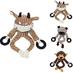 gainvictorlf Pet Supplies Cute Monkey Pet Dog Puppy Soft Plush Chew Playing Training Squeaky Sound Toy - Random Color