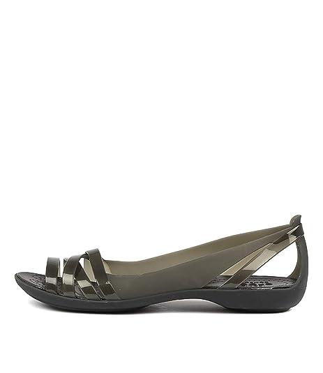 21b9e6890811 Image Unavailable. crocs Isabella Huarache 2 Black Black Ballets Flats Womens  Shoes Pumps