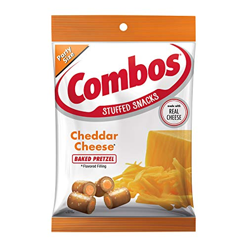- Combos Cheddar Cheese Pretzel Baked Snacks 15-Ounce Bag