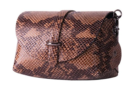 LIMITED Marron en véritable cuir P EDITION Pochette BORDERLINE EVELINA CBqxdt8d