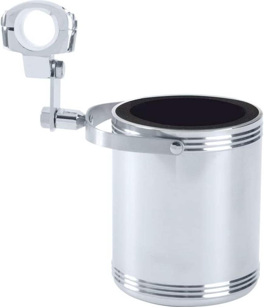 Diamond Plate GFCUPHSL Stainless Steel Motorcycle Cup Holder Large