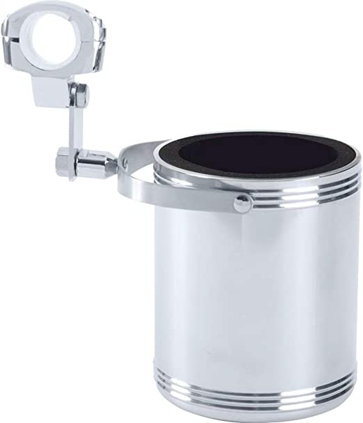 Diamond Plate GFCUPHPL Large Stainless Steel Motorcycle Cup Holder