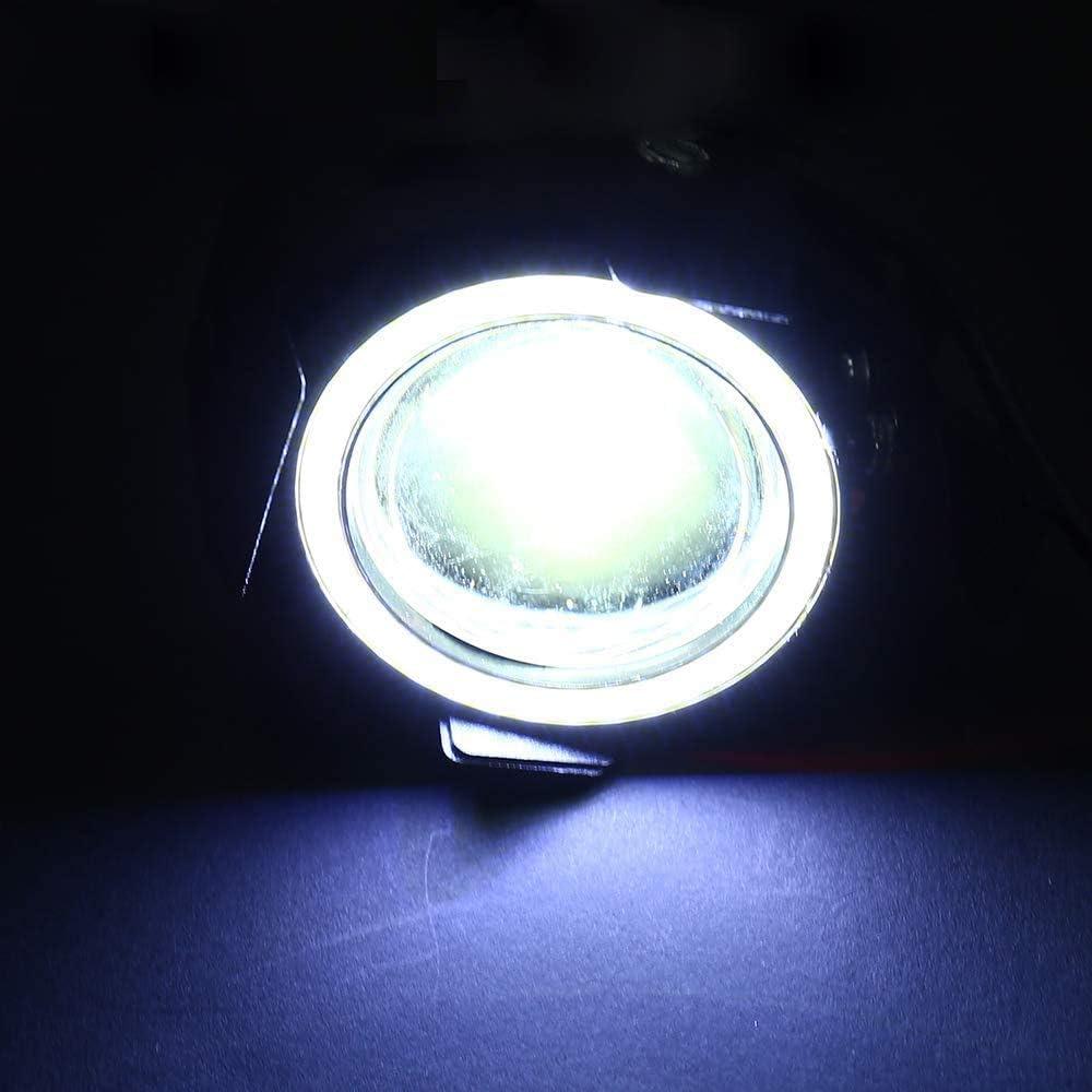 2x Faro LED Moto Luci Proiettore Anteriori CREE U7 Angel Eyes Occhi dAngelo Bianco Freddo 12V